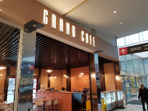 GRAND CAFE LED reklama Karlovy Vary